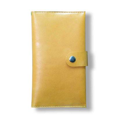 Мужской кошелёк ручной работы из кожи Краст рыжий hmm-03-04.