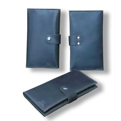 Мужской кошелёк ручной работы из кожи Crazy Horse коричневый hmm-03-03.