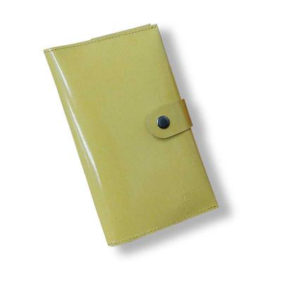 Кожаный женский кошелек желтого цвета hmw-03-10.