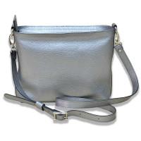 Женская кожаная сумка Era серебристая kb-01-08