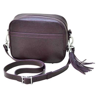Женская кожаная сумка Era бордового цвета kb-03-03.