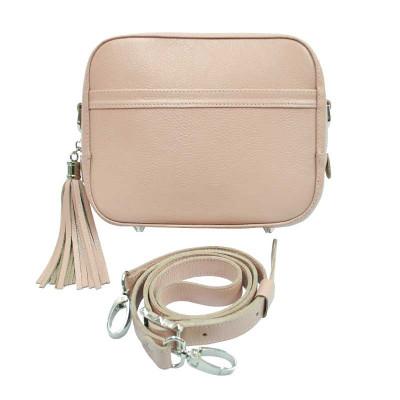 Женская кожаная сумка Era пудра kb-03-02
