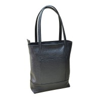 Женская сумка  ERA кожаная черная sm-01-01.